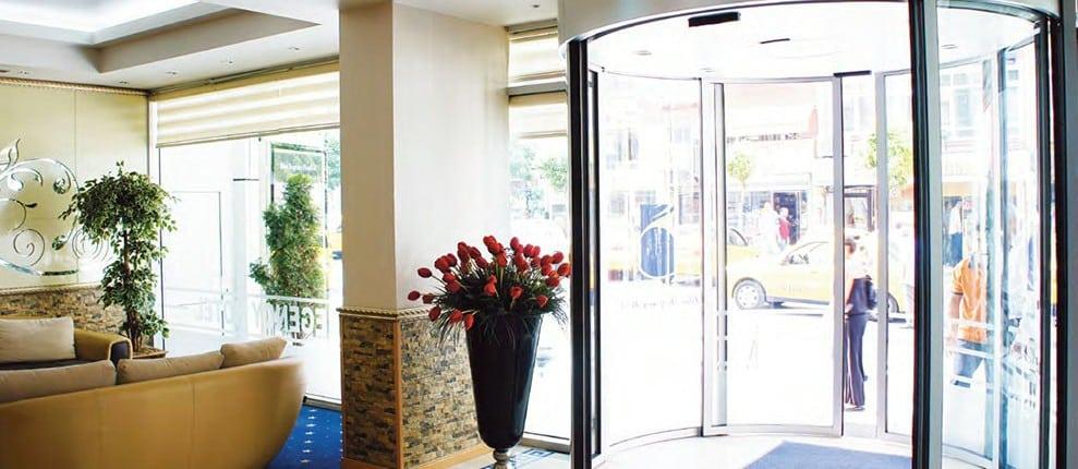 puerta automatica cristal