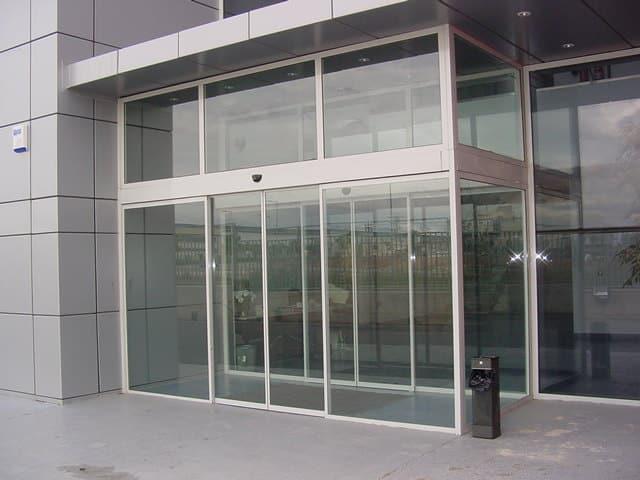 puertas cristal automaticas para oficinas