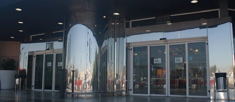 puerta cristal automatica