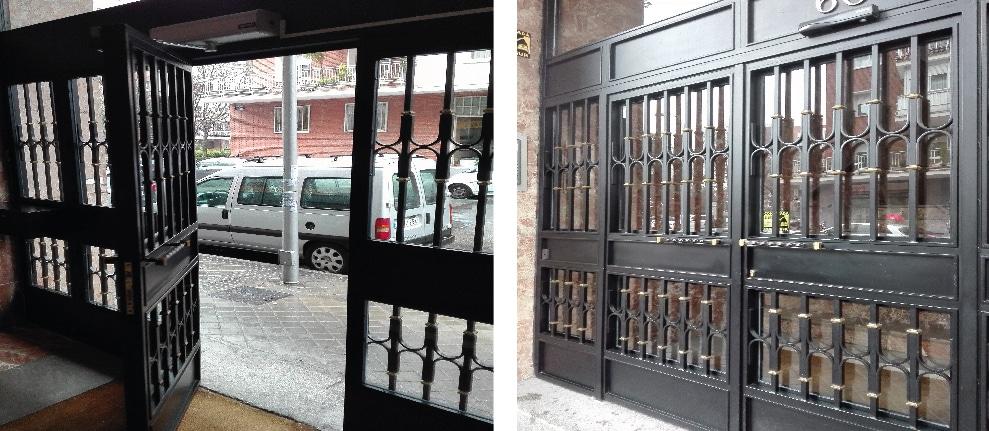 motor puerta portal