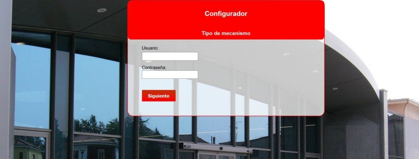 Configurador puerta automatica cristal