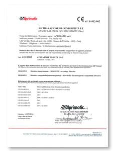 declaracion conformidad productos aprimatic