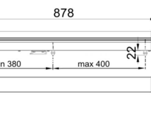 dimensiones operador electromecanico puertas batientes r251 aprimatic