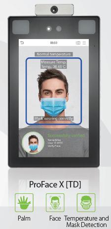 control accesos biometrico detector temperatura coronavirus